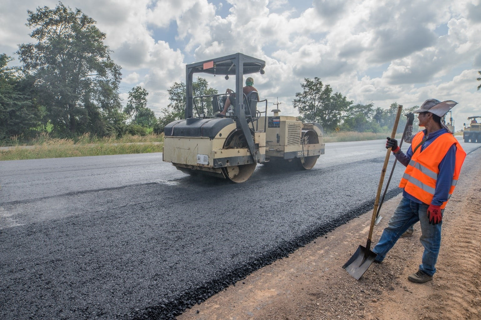Recycled Aggregate in Roadway Construction Project
