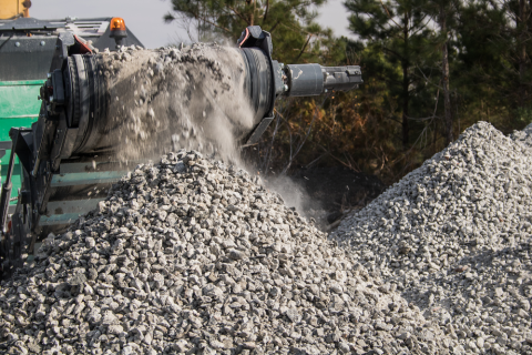 Concrete Crushing Onsite Recycling Baltimore Maryland