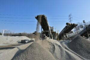 Concrete aggregate products in construction projects