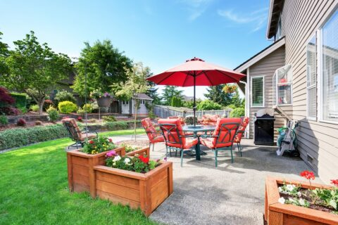 Concrete outdoor patio residential projects