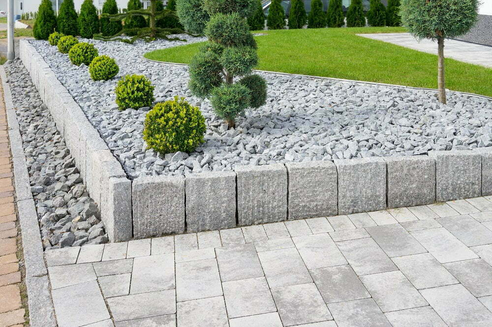 Recycled concrete in landscaping projects